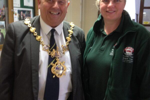 Meeting Huntingdon's Mayor, tour of the Town Hall and Glebe Farm on the radio!