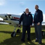 Pathfinder Flying Club's Roy Twigg and Wind Commander Andy March